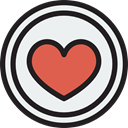 Peace, lover, loving, Shapes And Symbols, Heart, interface, Like, shapes WhiteSmoke icon