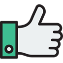 Finger, Like, thumb up, Hands, Gestures, Hands And Gestures WhiteSmoke icon