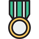 award, medal, winner, Champion, Sports And Competition Black icon