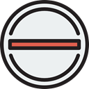 Prohibited, prohibition, signs, Cancelation, Shapes And Symbols, stop, cancel, forbidden, interface WhiteSmoke icon
