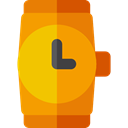 wristwatch, Elegant, Time And Date, time, watch, technology, fashion Orange icon