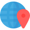 global, Geography, worldwide, Maps And Flags, Planet Earth, Earth Globe, Maps And Location CornflowerBlue icon