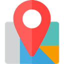 Map Location, Map Point, Street Map, Maps And Location, Gps, pin, position, placeholder, Maps, locations, map pointer Tomato icon