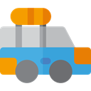 Automobile, Car, transportation, transport, vehicle CornflowerBlue icon