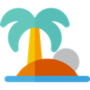 nature, Oasis, Island, Desert, tropical, Palm Tree MediumAquamarine icon