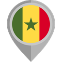 flag, Senegal, placeholder, flags, Country, Nation DarkGray icon