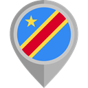 placeholder, flags, Country, Nation, flag, Democratic Republic Of Congo DarkGray icon