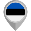 flag, Estonia, placeholder, flags, Country, Nation Black icon