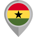 flag, Ghana, placeholder, flags, Country, Nation Black icon