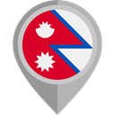 placeholder, flags, Country, Nation, flag, Nepal DarkGray icon