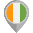 flag, placeholder, flags, Country, Nation, Ivory Coast DarkGray icon