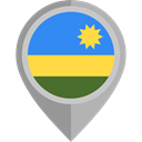 placeholder, flags, Country, Nation, flag, Rwanda DarkGray icon