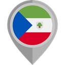 Equatorial Guinea, flags DarkGray icon