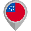 flag, samoa, placeholder, flags, Country, Nation Crimson icon