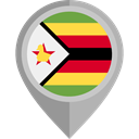 flag, Zimbabwe, placeholder, flags, Country, Nation Black icon