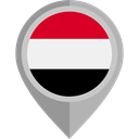 flag, Yemen, placeholder, flags, Country, Nation Black icon