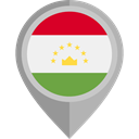 flag, Tajikistan, placeholder, flags, Country, Nation DarkGray icon