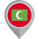 flag, Maldives, placeholder, flags, Country, Nation Crimson icon