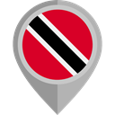 flag, placeholder, flags, trinidad and tobago, Country, Nation Black icon