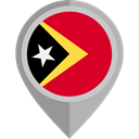flag, placeholder, flags, Country, Nation, East Timor Black icon