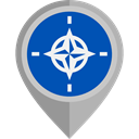 Military, Alliance, Organization, flag, Nato, flags Teal icon