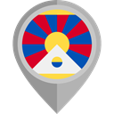 flag, placeholder, flags, Country, Tibet, Nation DarkGray icon