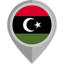 flags, Country, Nation, flag, Libya, placeholder Black icon