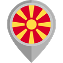 flag, placeholder, flags, Country, Nation, Republic Of Macedonia DarkGray icon