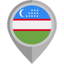 flag, placeholder, flags, Country, Nation, Uzbekistán DarkGray icon
