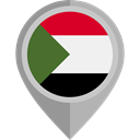 flag, Sudan, placeholder, flags, Country, Nation Black icon
