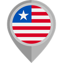 placeholder, flags, Country, Nation, flag, Liberia DarkGray icon