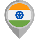 flag, India, placeholder, flags, Country, Nation DarkGray icon