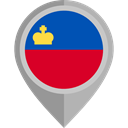 Country, Nation, flag, Liechtenstein, placeholder, flags DarkGray icon
