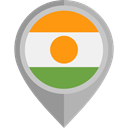 Country, Nation, flag, Niger, placeholder, flags DarkGray icon