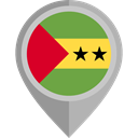 flag, placeholder, flags, Country, Nation, Sao Tome And Principe DarkGray icon