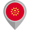 flag, Kyrgyzstan, placeholder, flags, Country, Nation Crimson icon