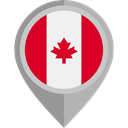 flag, canada, placeholder, flags, Country, Nation DarkGray icon
