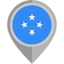 placeholder, flags, Country, Nation, flag, Micronesia DodgerBlue icon