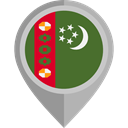 flag, turkmenistan, placeholder, flags, Country, Nation DarkOliveGreen icon