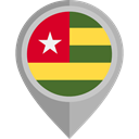 Togo, placeholder, flags, Country, flag, Nation DarkGray icon
