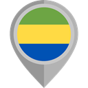 Country, Nation, flag, Gabon, placeholder, flags DarkGray icon
