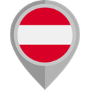 placeholder, flags, Country, Nation, flag, Austria DarkGray icon