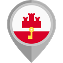 flag, Gibraltar, placeholder, flags, Region DarkGray icon