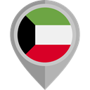 Nation, flag, Kuwait, placeholder, flags, Country Black icon