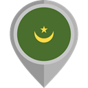 placeholder, flags, Country, Nation, flag, Mauritania DarkOliveGreen icon