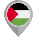 flag, Palestine, placeholder, flags, Country, Nation Black icon