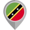 flag, placeholder, flags, Country, Nation, Saint Kitts And Nevis Black icon