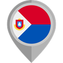 flag, placeholder, flags, Country, Nation, Sint Maarten DarkGray icon
