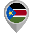 flag, placeholder, flags, Country, Nation, South Sudan Black icon