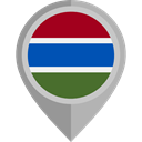 placeholder, flags, Country, Nation, flag, Gambia DarkGray icon